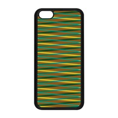 Diagonal Stripes Pattern Apple Iphone 5c Seamless Case (black) by LalyLauraFLM