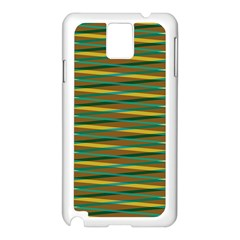 Diagonal Stripes Pattern Samsung Galaxy Note 3 N9005 Case (white) by LalyLauraFLM