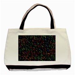 Colorful Transparent Shapes Basic Tote Bag (two Sides) by LalyLauraFLM