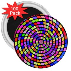 Colorful Whirlpool 3  Magnet (100 Pack)