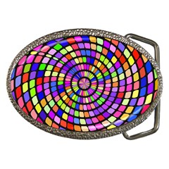 Colorful Whirlpool Belt Buckle by LalyLauraFLM