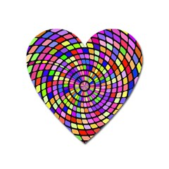Colorful Whirlpool Magnet (heart) by LalyLauraFLM