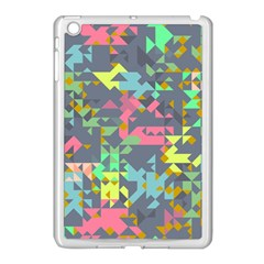 Pastel Scattered Pieces Apple Ipad Mini Case (white) by LalyLauraFLM