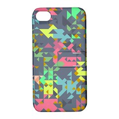 Pastel Scattered Pieces Apple Iphone 4/4s Hardshell Case With Stand by LalyLauraFLM