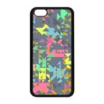 Pastel scattered pieces Apple iPhone 5C Seamless Case (Black) Front
