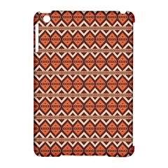 Brown Orange Rhombus Pattern Apple Ipad Mini Hardshell Case (compatible With Smart Cover) by LalyLauraFLM