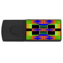 Distorted Shapes Pattern Usb Flash Drive Rectangular (4 Gb) by LalyLauraFLM