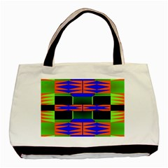 Distorted Shapes Pattern Basic Tote Bag (two Sides) by LalyLauraFLM