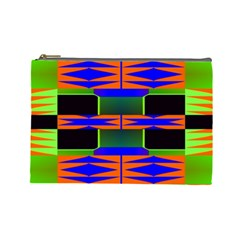Distorted Shapes Pattern Cosmetic Bag (large) by LalyLauraFLM