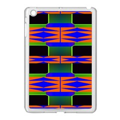 Distorted Shapes Pattern Apple Ipad Mini Case (white) by LalyLauraFLM