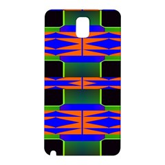 Distorted Shapes Pattern Samsung Galaxy Note 3 N9005 Hardshell Back Case by LalyLauraFLM