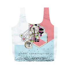 Under Construction Full Print Recycle Bags (m)  by infloence