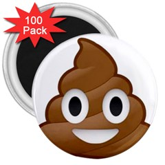 Poop 3  Magnets (100 Pack) by redcow
