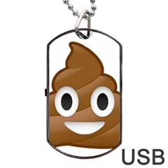 Poop Dog Tag Usb Flash (two Sides)  by redcow
