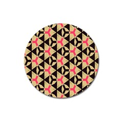 Shapes In Triangles Pattern Magnet 3  (round) by LalyLauraFLM