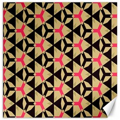 Shapes In Triangles Pattern Canvas 12  X 12  by LalyLauraFLM