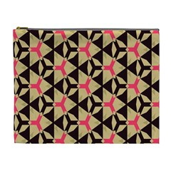 Shapes In Triangles Pattern Cosmetic Bag (xl) by LalyLauraFLM