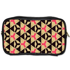 Shapes In Triangles Pattern Toiletries Bag (two Sides) by LalyLauraFLM