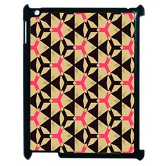 Shapes In Triangles Pattern Apple Ipad 2 Case (black) by LalyLauraFLM