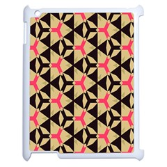Shapes In Triangles Pattern Apple Ipad 2 Case (white) by LalyLauraFLM