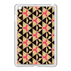 Shapes In Triangles Pattern Apple Ipad Mini Case (white) by LalyLauraFLM