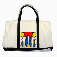 Colorful Distorted Shapes Two Tone Tote Bag by LalyLauraFLM