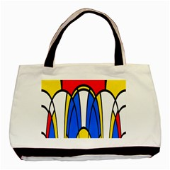 Colorful Distorted Shapes Basic Tote Bag (two Sides) by LalyLauraFLM