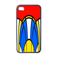 Colorful Distorted Shapes Apple Iphone 4 Case (black) by LalyLauraFLM
