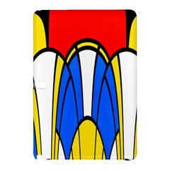 Colorful Distorted Shapes	samsung Galaxy Tab Pro 12 2 Hardshell Case by LalyLauraFLM