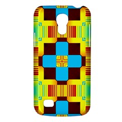 Abstract Yellow Flowers Samsung Galaxy S4 Mini (gt I9190) Hardshell Case  by LalyLauraFLM
