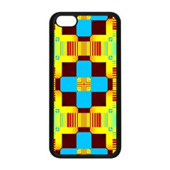 Abstract Yellow Flowers Apple Iphone 5c Seamless Case (black) by LalyLauraFLM