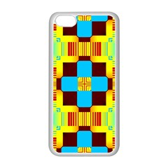 Abstract Yellow Flowers Apple Iphone 5c Seamless Case (white) by LalyLauraFLM
