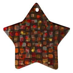 Floating Squares Star Ornament (two Sides) by LalyLauraFLM