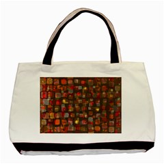 Floating Squares Basic Tote Bag (two Sides) by LalyLauraFLM