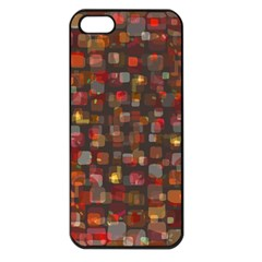Floating Squares Apple Iphone 5 Seamless Case (black) by LalyLauraFLM