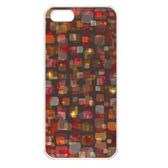 Floating Squares Apple Iphone 5 Seamless Case (white) by LalyLauraFLM