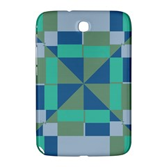 Green Blue Shapes Samsung Galaxy Note 8 0 N5100 Hardshell Case  by LalyLauraFLM