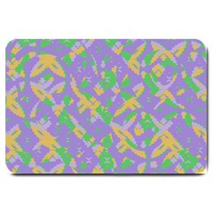 Mixed Shapes Large Doormat by LalyLauraFLM