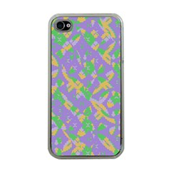Mixed Shapes Apple Iphone 4 Case (clear) by LalyLauraFLM