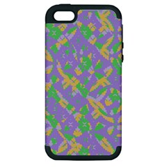 Mixed Shapes Apple Iphone 5 Hardshell Case (pc+silicone) by LalyLauraFLM