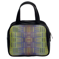 Gradient Rectangles Classic Handbag (two Sides) by LalyLauraFLM