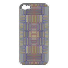 Gradient Rectangles Apple Iphone 5 Case (silver) by LalyLauraFLM