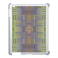 Gradient Rectangles Apple Ipad 3/4 Case (white) by LalyLauraFLM