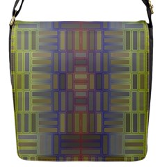 Gradient Rectangles Flap Closure Messenger Bag (s) by LalyLauraFLM