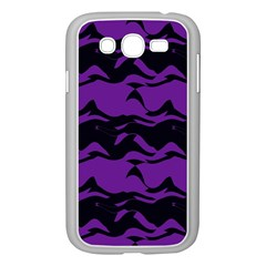 Mauve Black Waves Samsung Galaxy Grand Duos I9082 Case (white) by LalyLauraFLM
