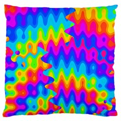 Amazing Acid Rainbow Large Cushion Cases (two Sides)  by KirstenStar