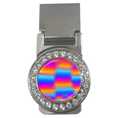 Psychedelic Rainbow Heat Waves Money Clips (cz)  by KirstenStar