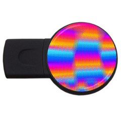 Psychedelic Rainbow Heat Waves Usb Flash Drive Round (4 Gb)  by KirstenStar