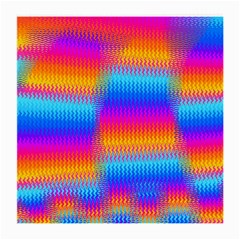 Psychedelic Rainbow Heat Waves Medium Glasses Cloth by KirstenStar