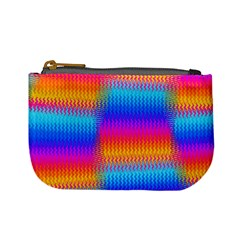 Psychedelic Rainbow Heat Waves Mini Coin Purses by KirstenStar